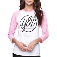 Young & Reckless Looped Life Raglan T-Shirt - Womens Tee - White -