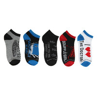 Doctor Who No-Show Socks 5 Pair