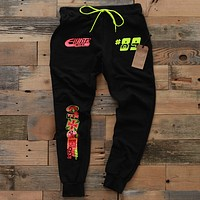 Garage Built Yard Sweat Pants Neon