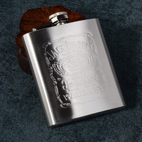 Stainless Steel Flagon 7 Ounces Wine Hip Flask Travel Alcohol Liquor Small Portable Mini Bottle Gift Male Hot frascos con corcho