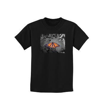 Monarch Butterfly Photo Childrens Dark T-Shirt