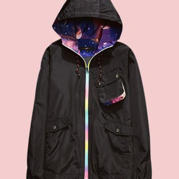 universe hooded jacket
