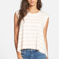 Junior Women's Ten Sixty Sherman Stripe Muscle Tee ,