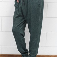 Loose Fitting Jogger Sweatpants {Teal Green}