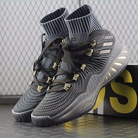 Adidas Crazy Explosive 2017 PK PrimeKnit Boost Mid Black Basketball Shoes BY4470 Sneaker