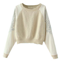 ROMWE | Embroidered Midriff Jumper, The Latest Street Fashion