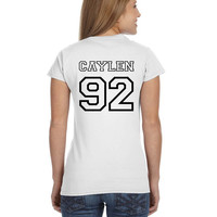 JC Caylen O2L Our 2nd Life Second Ladies Softstyle Junior Fit Tee Cotton Jersey Knit Gift Shirt