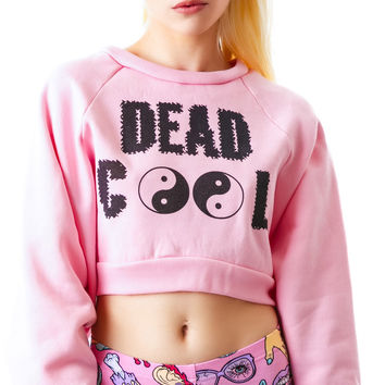United Couture Dead Cool Cropped Sweatshirt Pink One