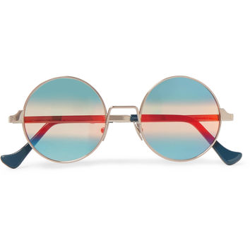 Cutler and Gross - Round-Frame Silver-Tone Sunglasses