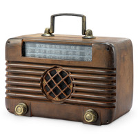 SPI Home Collection Old Time Radio with Bluetooth Speaker