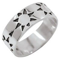 Geo Suns Sterling Silver Ring