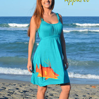 teal fishing hogfish fishing dress by kristy grant sporty girl apparel fishing clothing hogfish clothing