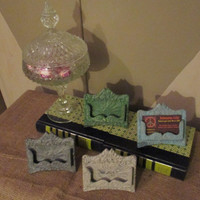 Business Card Holder ~ Unique Christmas Birthday Gift for Her ~ Shabby Chic Rustic Cast Iron Place Card Display ~ Office Decor and Supplies