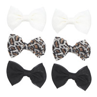 6 On Chiffon Bow Clips | Shop Accessories at Wet Seal