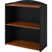 Walmart: Ameriwood 2-Shelf Bookcase, Black Stipple with Inspire Cherry Shelves
