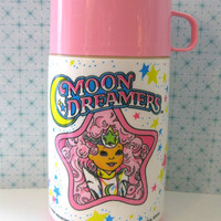 Vintage Thermos by Aladdin- Moon Dreamers- Pink Thermos