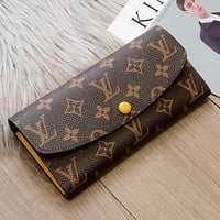 LV Louis Vuitton Women Fashion New Monogram Check Leather Wallet Handbag Bag