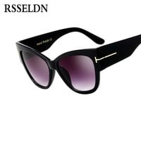 RSSELDN Vintage Cat Eye Sunglasses Women Brand Designer Retro Female Sunglass Fashion Oversized Gradient Sun Glasses Women UV400