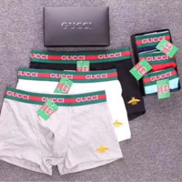 GUCCI New fashion men letter and side bee print underwear shorts six color