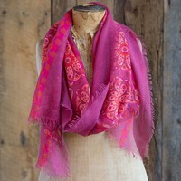 Scarves:  Purple  with  Pink  Mandala  Gypsy  Frayed  Scarf  From  Natural  Life