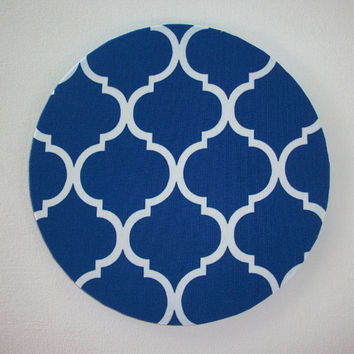 Mouse Pad mousepad / Mat - Rectangle or round - Trellis in royal blue