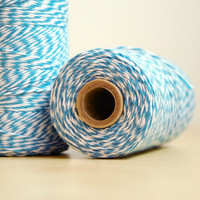 240 Yards of Bakers Twine Blue and White String 100% Cotton Made in USA