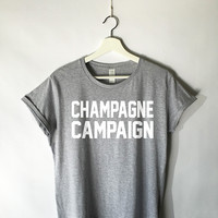 Champagne Campaign Shirt in Grey for Women