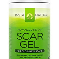 InstaNatural Scar Gel Cream - For Old & New Scars - For Face & Body - Mark Remover with Green Tea & Natural Moisturizers - Advanced Dark Blemish Facial Spot Eraser - Daily Use Morning & Night - 1 OZ