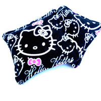 Hello Kitty Flannel Hand Warmers - Cat Black White Pink Reusable Rice Hand Warmers