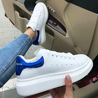 Alexander McQueen  men and women sports casual shoes blue