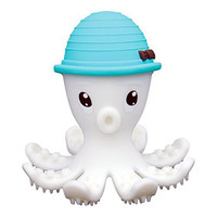Mombella® Food Grade Soft Silicone Teething Toy, Adorable Shy Octopus Teether , Perfect Baby Gift, Unique Shower Gift, Special Baby Christmas Present, Silicone Gum Brush, for Babies 3m+, 4 Colors Available