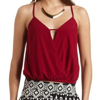 BUBBLE HEM CROPPED TANK TOP