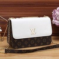 Louis Vuitton LV Women Leather Chain Crossbody Shoulder Bag Satchel