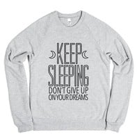 Keep Sleeping (Sweatshirt)-Unisex Heather Grey Sweatshirt