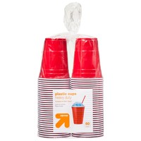 up & up™ Red Disposable Plastic Cups - 18 oz - 6... : Target