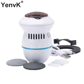 Electric Foot File Vacuum Callus Remover Rechargeable Foot Files Clean Tools Feet Care for Hard Cracked Skin