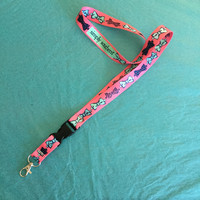 Simply Southern Pink Bowtie Lanyard