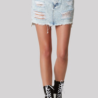 Cut To The Chase Denim Skirt