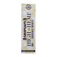 High Hemp Wraps | Grapeape Flavor 2 leaves & 2 pre-rolled filters per pack
