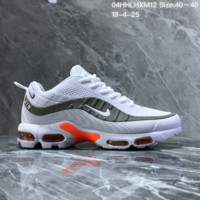 HCXX N1499 Nike Air Max 95 Plastic Sports Casual Shoes White Gray Pink