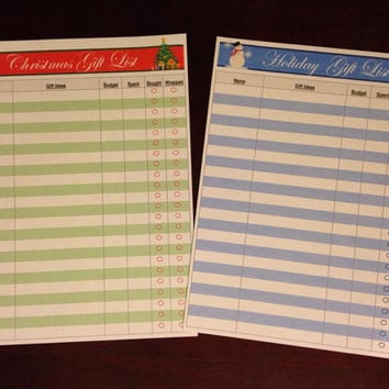 Custom Christmas / Holiday Gift List Sticker - Cut to fit Erin Condren Planners