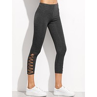 Serena Cropped Leggings - Grey