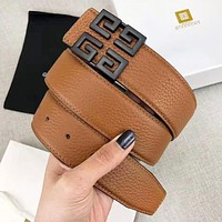 Givenchy Fashion New Pattern Buckle Leather Women Men Leisure belt With Box