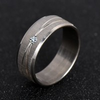 Jewelry Rings Water Drop Wedding White Gold Plated