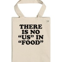 No Us In Food-Unisex Natural T-Shirt