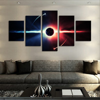 5 Pcs(No Frame)  Large HD Abstrac Planet Canvas Print Painting for Living Room, Wall Art Picture Gift,Printing On Canvas