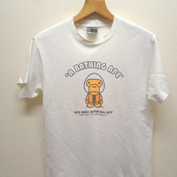 25% SALES ALERT Vintage 90's Bathing Ape Baby Milo T Shirt Skate Street Wear Swag Top Tee Punk Rock Size M