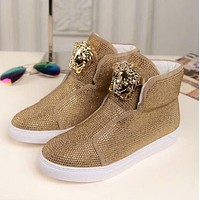 Versace Sneakers With High Help Shoes-8
