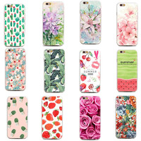 Colorful Floral Paisley Flower Soft Silicone TPU Case For iphone 7 7 Plus 5 5s 6 6s Thin Cover For iphone 7 7 Plus 5 5s 6 6s