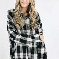 Mesmerized Flannel - Black